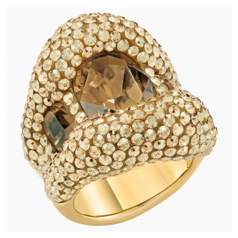 Tigris Cocktail Ring, Gold tone, Gold-tone plated Swarovski