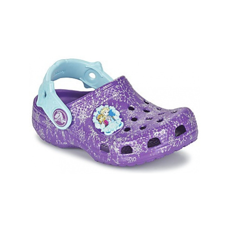 Crocs Clsc Frozen Clg K girls's Children's Clogs (Shoes) in Purple