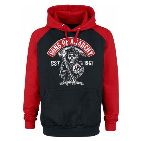 Sons Of Anarchy - Redwood Original - Hooded sweatshirt - black-red