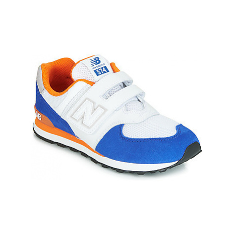 New Balance YV574 girls's Children's Shoes (Trainers) in White