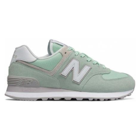New Balance WL574ESM green - Women's leisure footwear