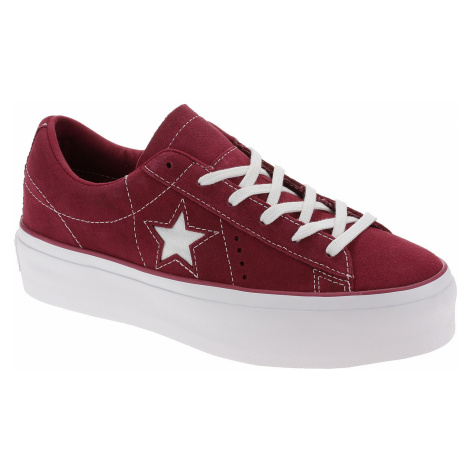 shoes Converse One Star Platform OX - 563488/Rhubarb/White/White - women´s