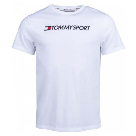 Tommy Hilfiger CHEST LOGO TOP white - Men's T-shirt