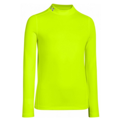 Under Armour CG EVO FITTED LS MOCK yellow - Boys' Tee