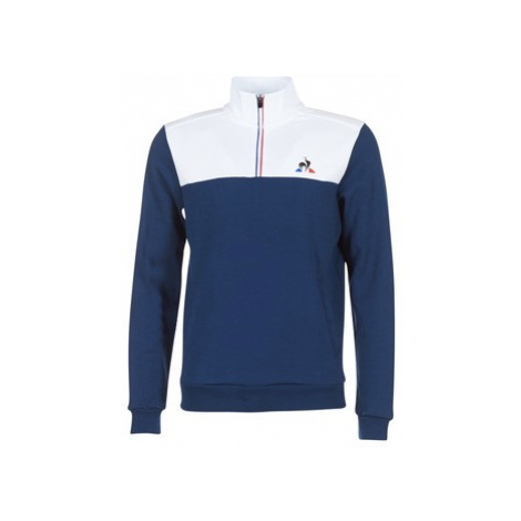 Le Coq Sportif TRICOLORE HALF ZIP FLECE men's Sweatshirt in Blue