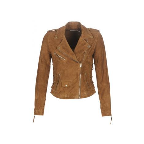 Naf Naf CALYPSO women's Leather jacket in Brown