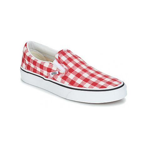 Vans CLASSIC SLIP-ON women's Slip-ons (Shoes) in Red