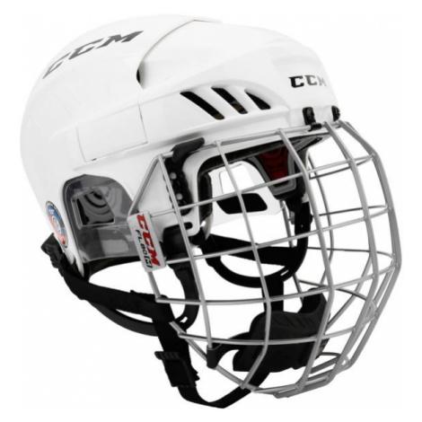 CCM FL60C SR COMBO white - Hockey helmet