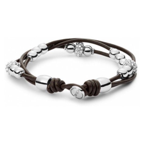 Fossil Women Rondel Wrist Wrap- Chocolate Brown - One size