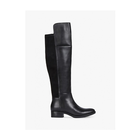 Geox Women's Felicity Leather Over the Knee Boots, Black