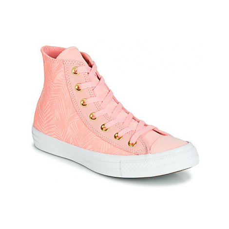 Converse CHUCK TAYLOR ALL STAR SUMMER PALMS HI women's Shoes (High-top Trainers) in Pink