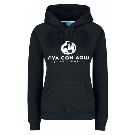 Viva Con Agua - Logo Hood - Girls hooded sweatshirt - black