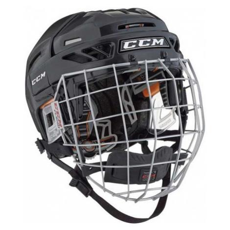 CCM FITLITE 3DS COMBO JR black - Kids' hockey helmet