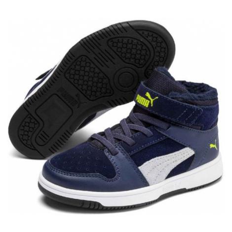 Puma REBOUND LAYUP FUR SD V PS dark blue - Kids' leisure shoes