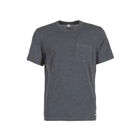 Element BASIC POCKET CR SS men's T shirt in Grey