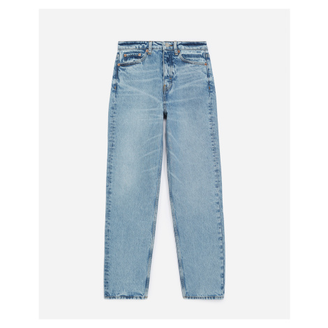 The Kooples - Blue straight-cut faded jeans with high waist - WOMEN