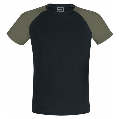 RED by EMP - Short Raglan Road - T-Shirt - black-olive