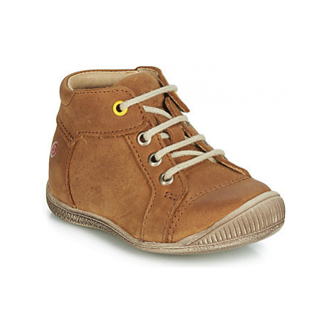 GBB PARGA boys's Children's Shoes (High-top Trainers) in Brown