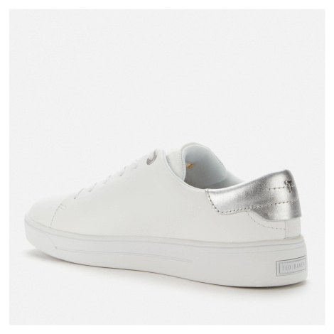Ted Baker Women's Cleari Leather Cupsole Trainers - White - UK