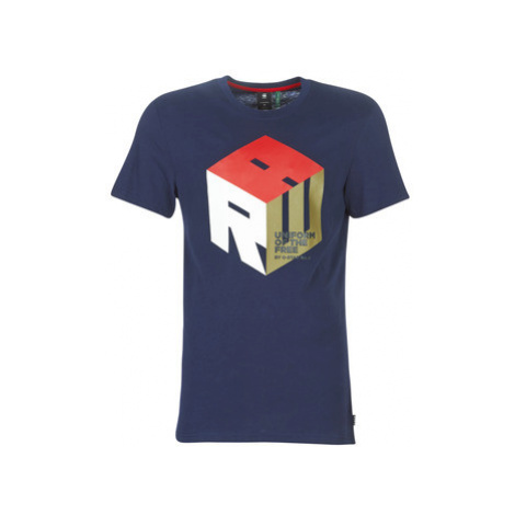 G-Star Raw GRAPHIC 6 men's T shirt in Blue