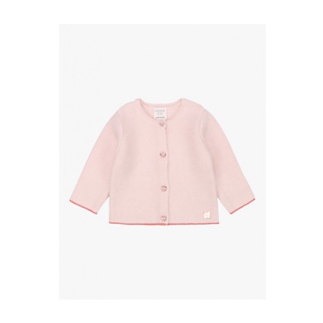 Carrément Beau Baby Buttoned Tricot Cardigan, Apricot