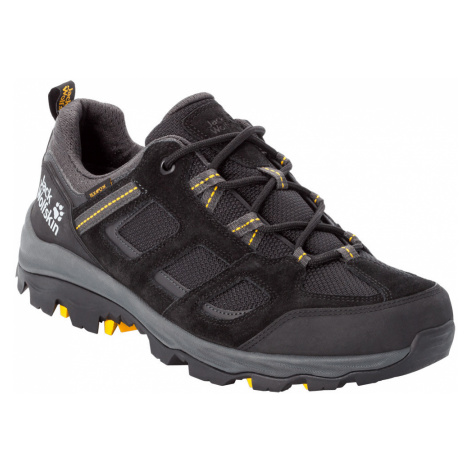Jack Wolfskin Mens Vojo III Low Hiking Shoes-Black / Burley Yellow XT-13