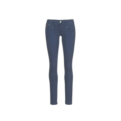 Freeman T.Porter ALEXA SLIM SATEEN women's Trousers in Blue Freeman T. Porter