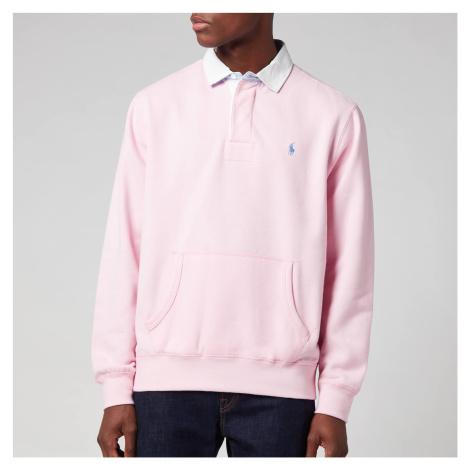Polo Ralph Lauren Men's Rl Fleece Rugby Polo Shirt - Carmel Pink
