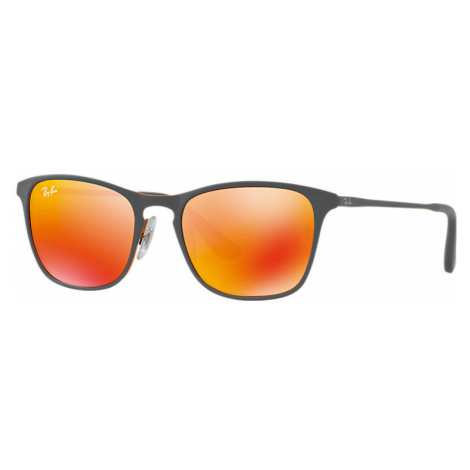 Ray Ban Rj9539s Unisex Sunglasses Lenses: Red, Frame: Grey - RJ9539S 258/6Q 48-17