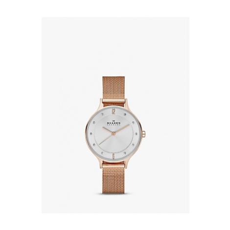 Skagen Women's Anita Stainless Steel Mesh Bracelet Strap Watch