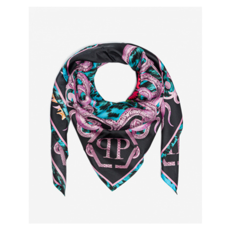 Philipp Plein Skull And Roses Scarf Colorful