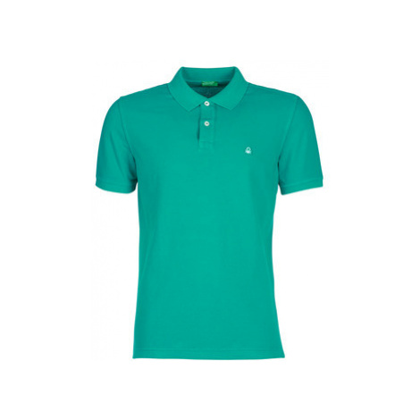 Benetton MADALO men's Polo shirt in Green United Colors of Benetton