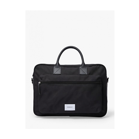 Sandqvist Emil Organic Cotton Crossbody Briefcase, Black