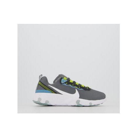Nike Renew Element 55 Gs SMOKE GREY WHITE CERULEAN BRIGHT CACTUS