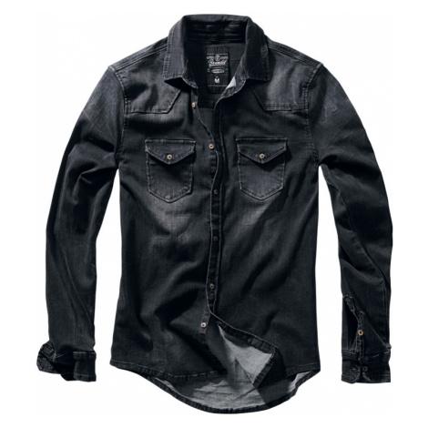 Brandit - Riley Denim Shirt - Shirt - black