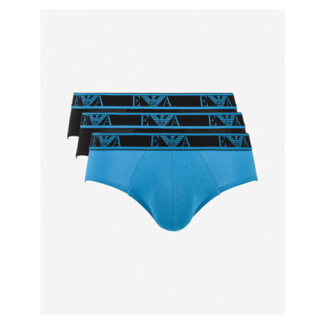 Emporio Armani Slips 3 Piece Black Blue