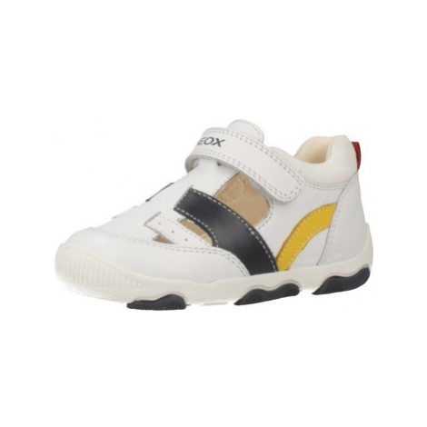 Geox B NEW BALU boys's Children's Shoes (Trainers) in White