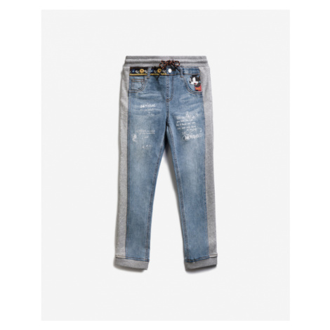 Desigual Mickey Mouse Bimaterial Kids Jeans Blue Grey
