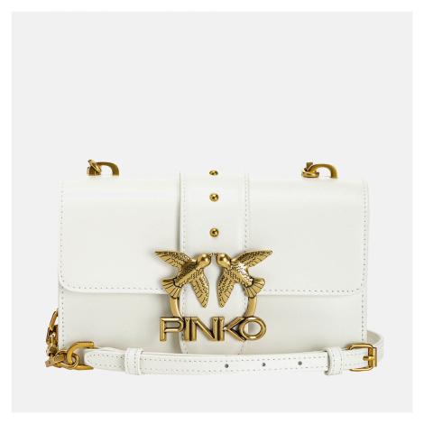 Pinko Women's Love Mini Icon Simply 5 Shoulder Bag - White