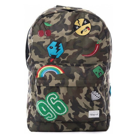 Spiral Camo Jungle Patch Backpack Bag