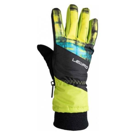 Lewro PIRUZ green - Kids' ski gloves