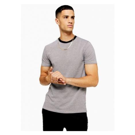 Mens Brown Houndstooth T-Shirt, Brown Topman
