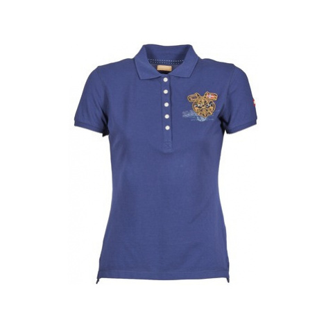 Napapijri EGUILLES women's Polo shirt in Blue
