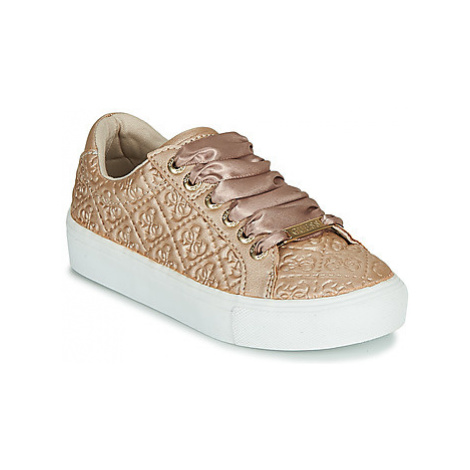 Guess MISSY girls's Children's Shoes (Trainers) in Gold