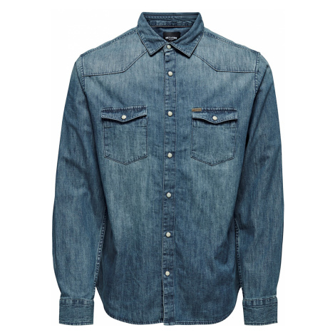 ONLY and SONS - Odin Western Shirt - Shirt - blue Only & Sons