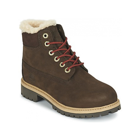 Timberland 6 IN PRMWPSHEARLING girls's Children's Mid Boots in Brown