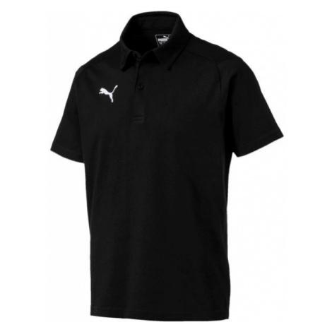 Puma LIGA CASUALS POLO black - Men's polo shirt