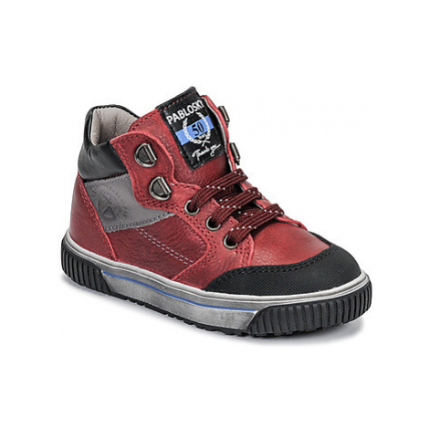 Pablosky 592861-C boys's Children's Shoes (High-top Trainers) in Red