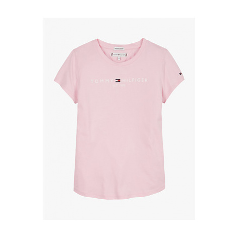 Tommy Hilfiger Boys' Essential Logo T-Shirt, Romantic Pink