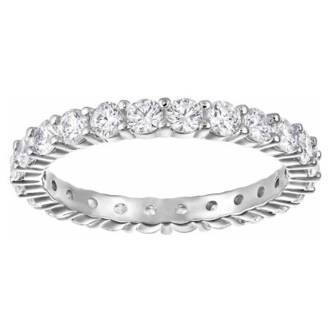 Vittore XL Ring, White, Rhodium plated Swarovski